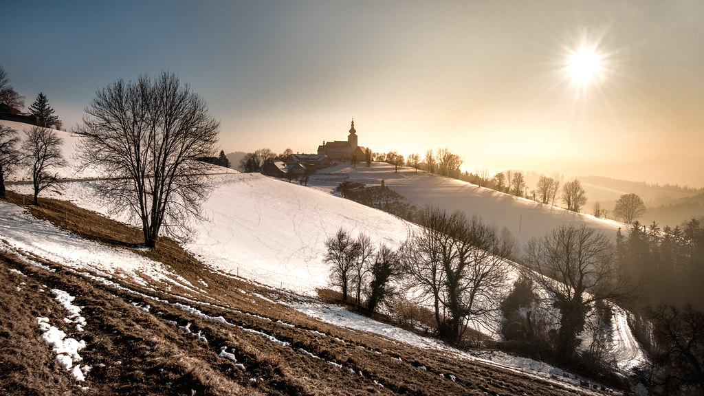 Winter Sun And Sankt Pankrazen Sankt Pankrazen Is A Tiny V Flickr