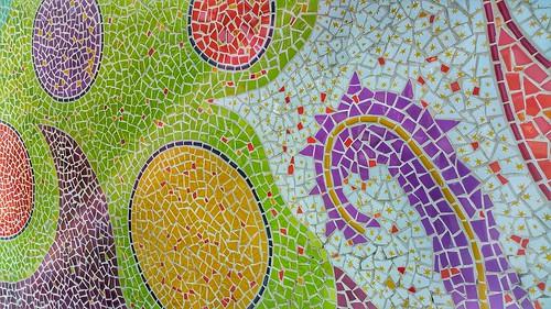 Mosaic colour stone