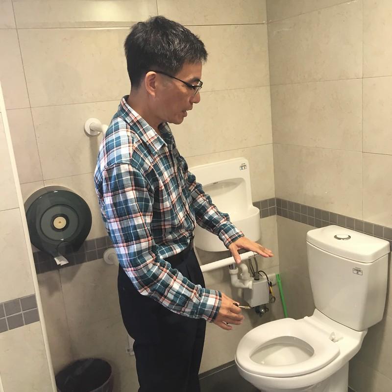 博愛樓無障礙廁所。圖/鄒庭瑄攝。