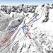 Mapa Cortina d´Ampezzo - Ra Vallees