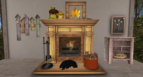 The Mustard Seed: Fireplace & Serenity Style | by Hidden Gems in Second Life (Interior Designer)