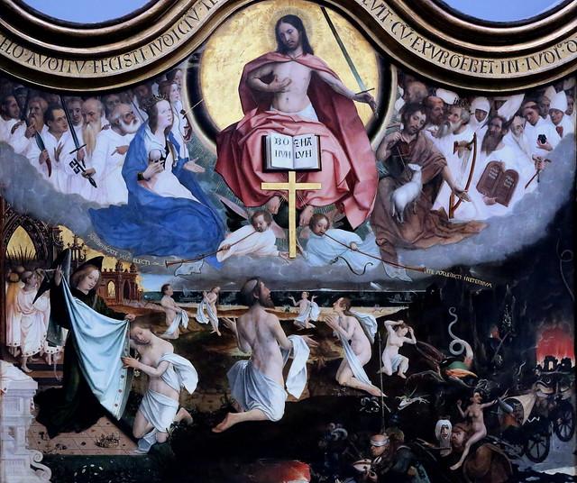 IMG_3193F Jan Provoost. 1462-1529. Bruges.   Le Jugement Dernier.  The last Judgement. 1525. Bruges. Groeninge Museum.