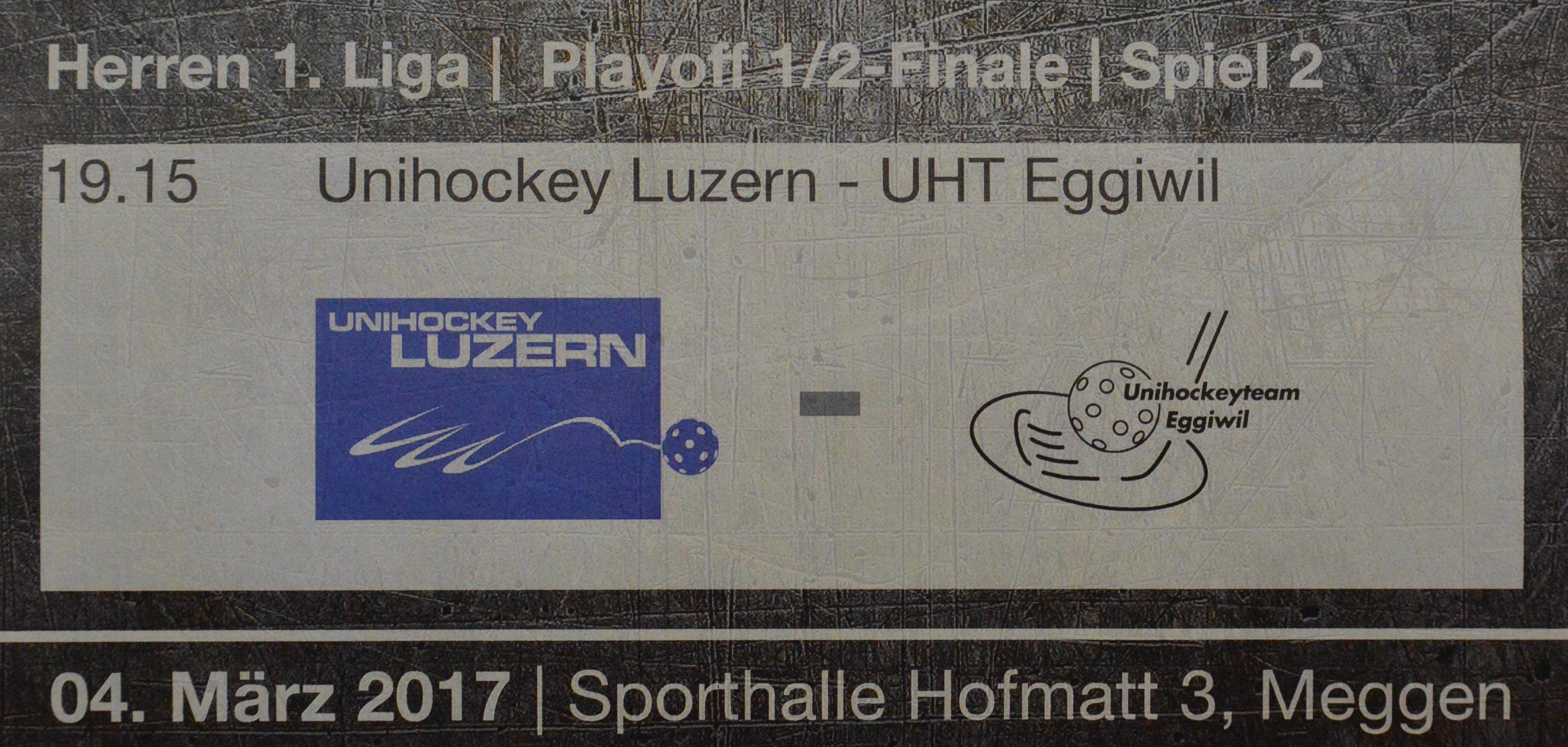 Herren I - Unihockey Luzern Halbfinal Spiel II Saison 2016/17