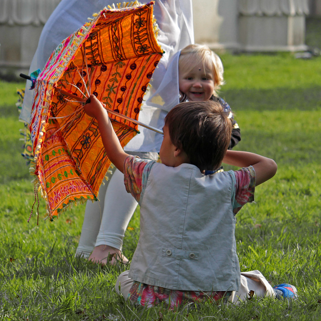 Young Wedding Guests Playing In