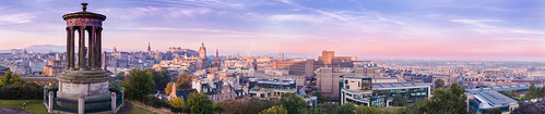 city pink blue trees sky panorama colour skyline architecture clouds sunrise canon buildings scotland edinburgh outdoor hill filter nd canoneos soe caltonhill calton ndfilter 70d neutraldensity canon70d