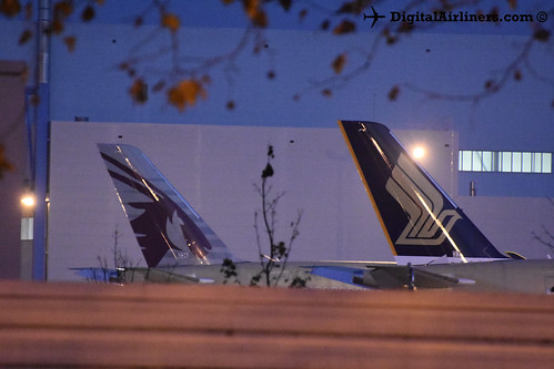 A350s MSN 036 and 037 outside A330 prod hall | by DigitalAirliners.com