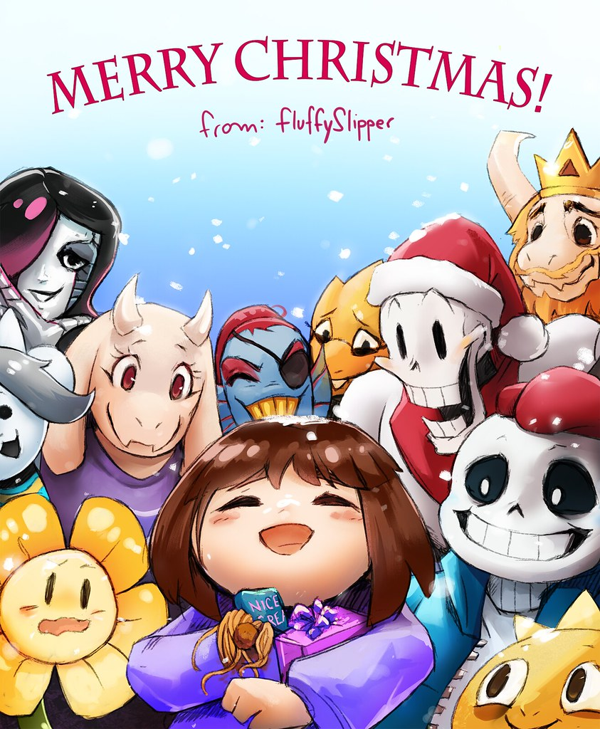 Undertale Christmas.An Undertale Christmas Please Credit Me Thefluffyslipp