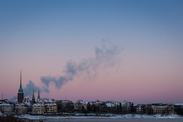 Dusk in Helsinki
