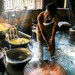 Small sweets factory in Jaisalmer, India ジャイサルメールのお菓子工房