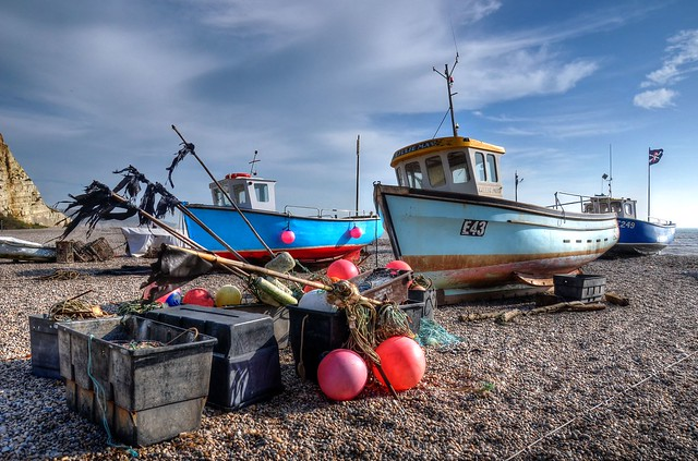 Fishing boats on the beach at Beer, East Devon (Explored)