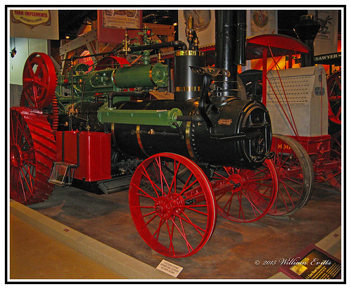 canon mechanical farming case steam plough locomotion flywheel propelled robust farmhaulage steamengineself