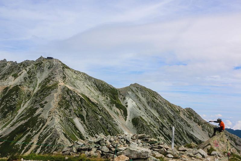 浄土山から見える雄山