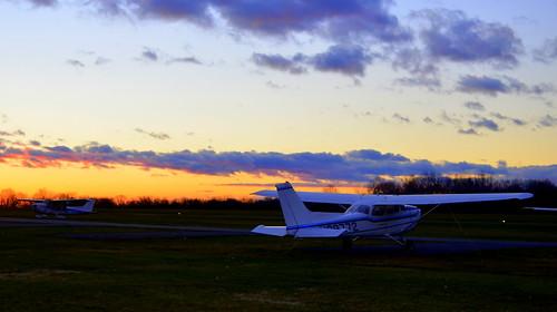 sunset clouds airport nj solberg readington whitehousestation thorsolberg