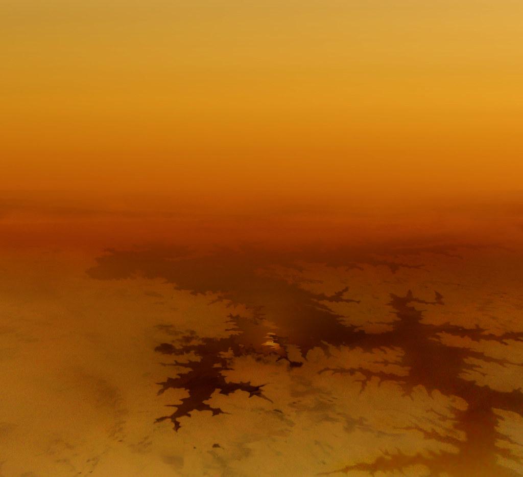 Titan lake - artist impression