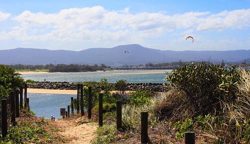 warilla nsw windsurfing scenic view bay lakeillawarra illawarra sand watersport windang