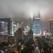 After the Party: A Foggy Guomao in Beijing at Midnight by pamhule