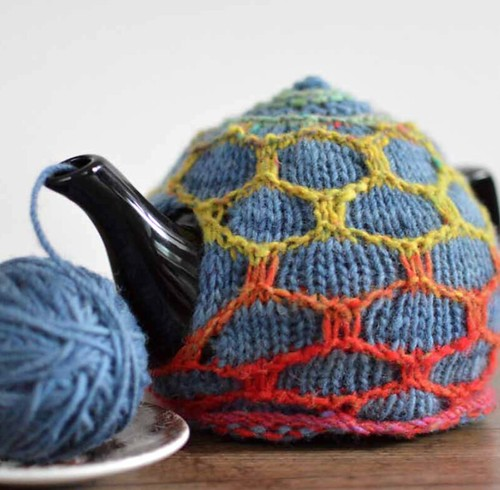 Honeycomb Tea Cosy by Evin Bail O'Keeffe