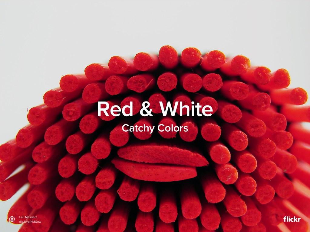 Catchy Colors: Red & White