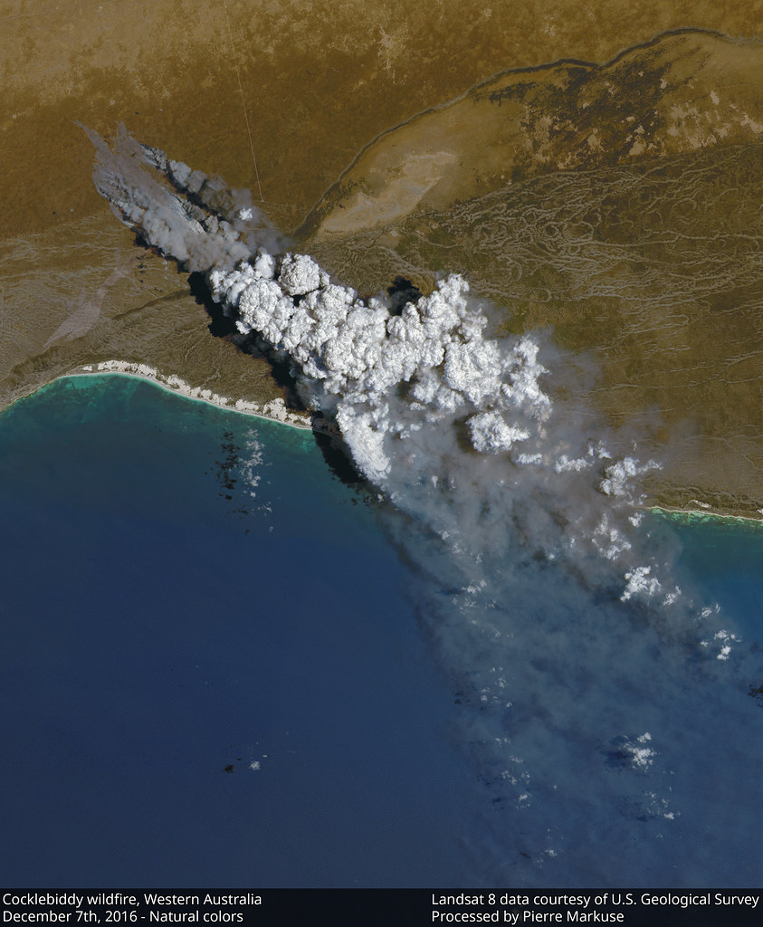 Earth from Space: Cocklebiddy Wilfire, Western Australia