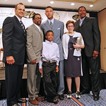 Joe Torre, Spike Lee, his son Jackson, Derek, Adele Smithers-Fornaci & Hall of Famer Dave Winfield