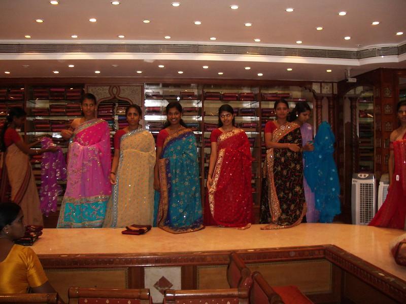 Sarees on display