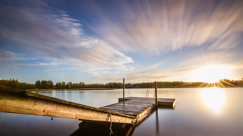 sunrise dawn landscape finland petäjävesi lake water longexposure tokina1116