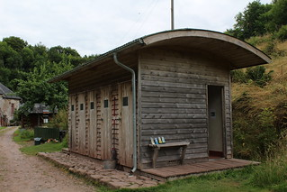 Toilet and shower block at Priory Mill Farm campsite, Brecon | by pluralzed