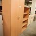 Tall beech 2 door storage with 4 shelves €235