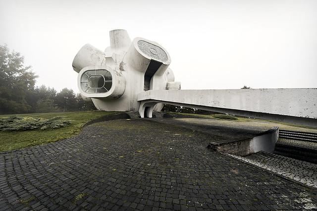 Forgotten yugoslav monument, somewhere in Macedonia.