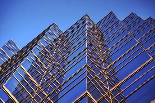 yokohama japan outdoor day building architecture skyscraper glass window blue gold 1xp raw nex6 sel55210 photomatix hdr qualityhdr qualityhdrphotography skyline geometry fav200