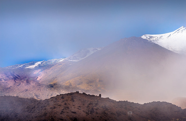 Etna between the fog II