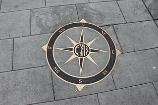 Seattle compass rose on sidewalk | by SounderBruce