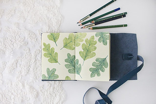 Leaves_Pattern_Sketchook_small_01 | by the blue rabbit house