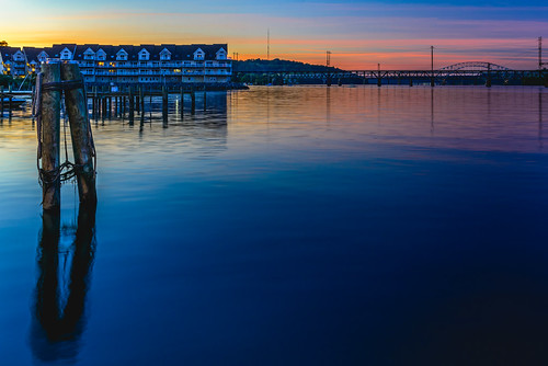 sunset sky water bay dock outdoor dusk maryland havredegrace chesapeakebay
