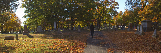 Greg at Lakeside Cemetery in October; Wakefield, MA (2015)