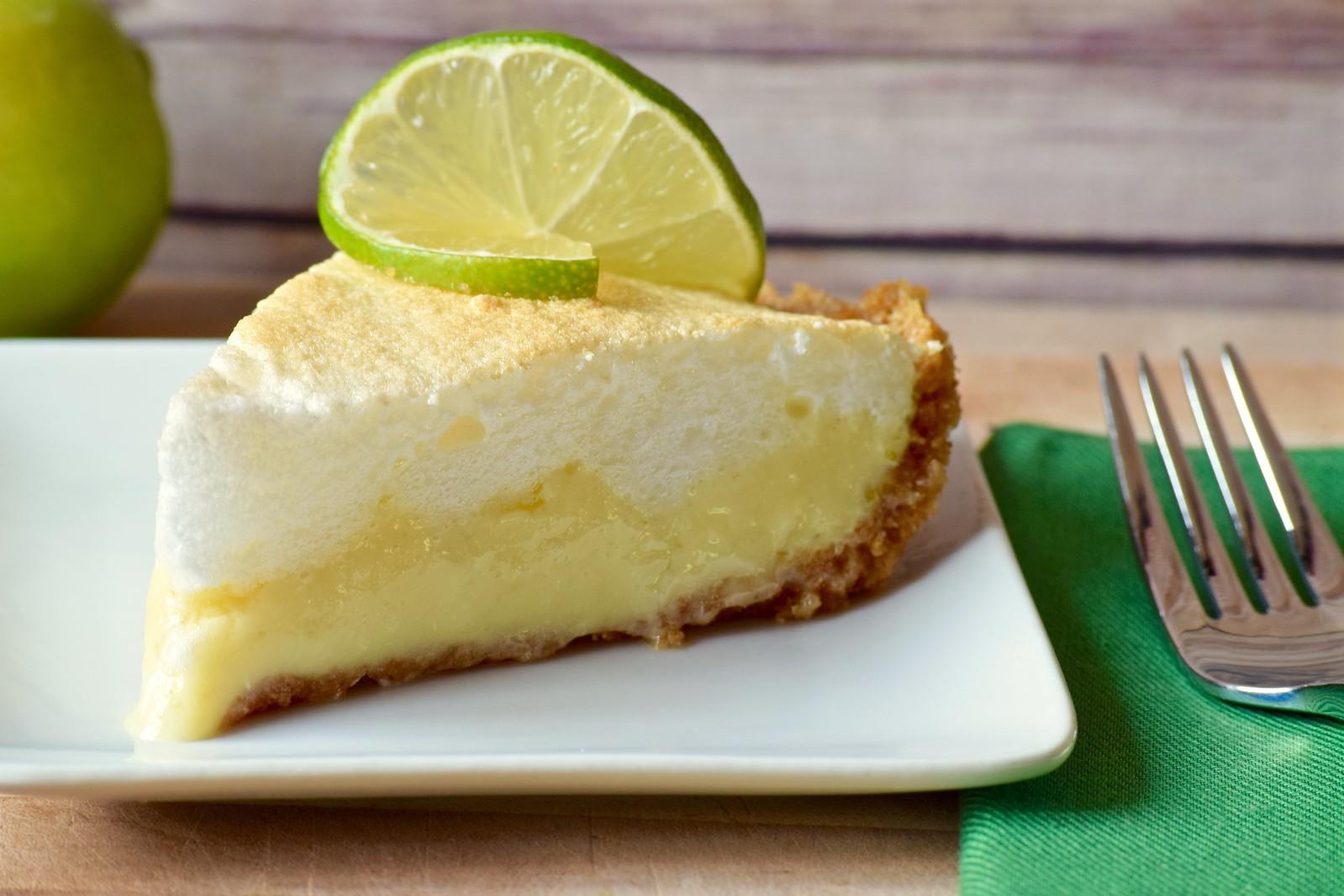 a slice of key lime pie
