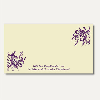Wedding Invitations - Money Envelopes - ME111-2189 | by nparekhcards