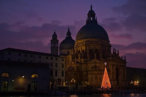 venezia natale2016 puntadelladogana chiesadellasalute sunset
