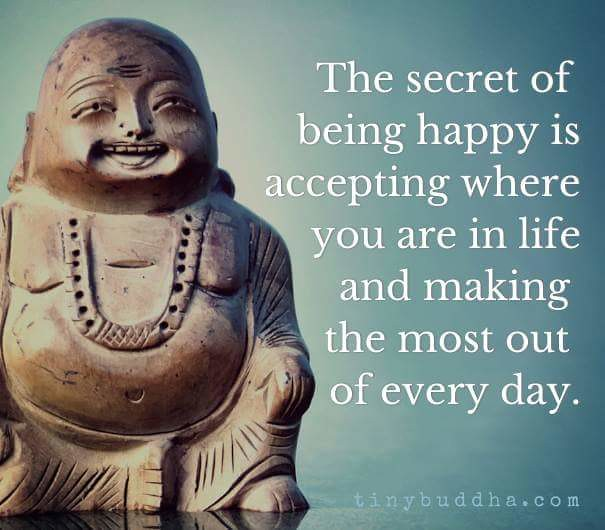 life quotes by unknown author the secret of being happy i flickr