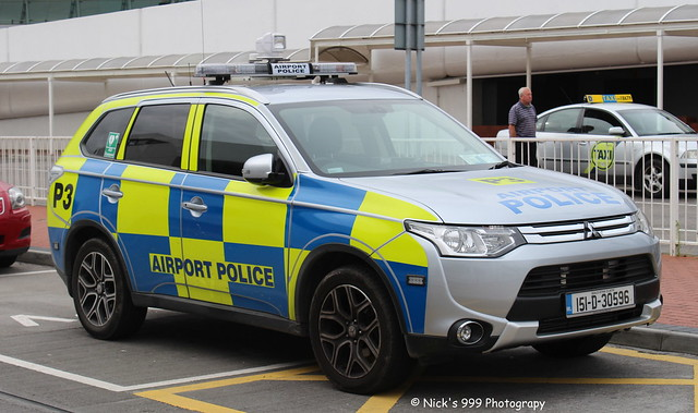 Dublin Airport Police / P3 / 151 D 30586 / Mitsubishi Outlander / Incident Response Vehicle