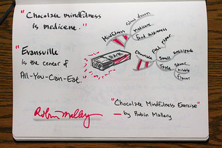 """Sketchnotes - Robin Mallery, """"Chocolate Mindfulness Exercise""""   by TEDxEvansville"""