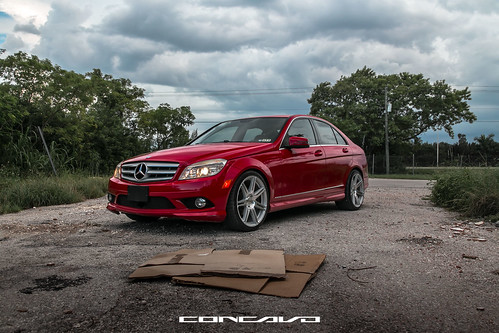Mercedes Benz C300 on CW-S6 Gloss Silver Machined Face | by Concavo Wheels