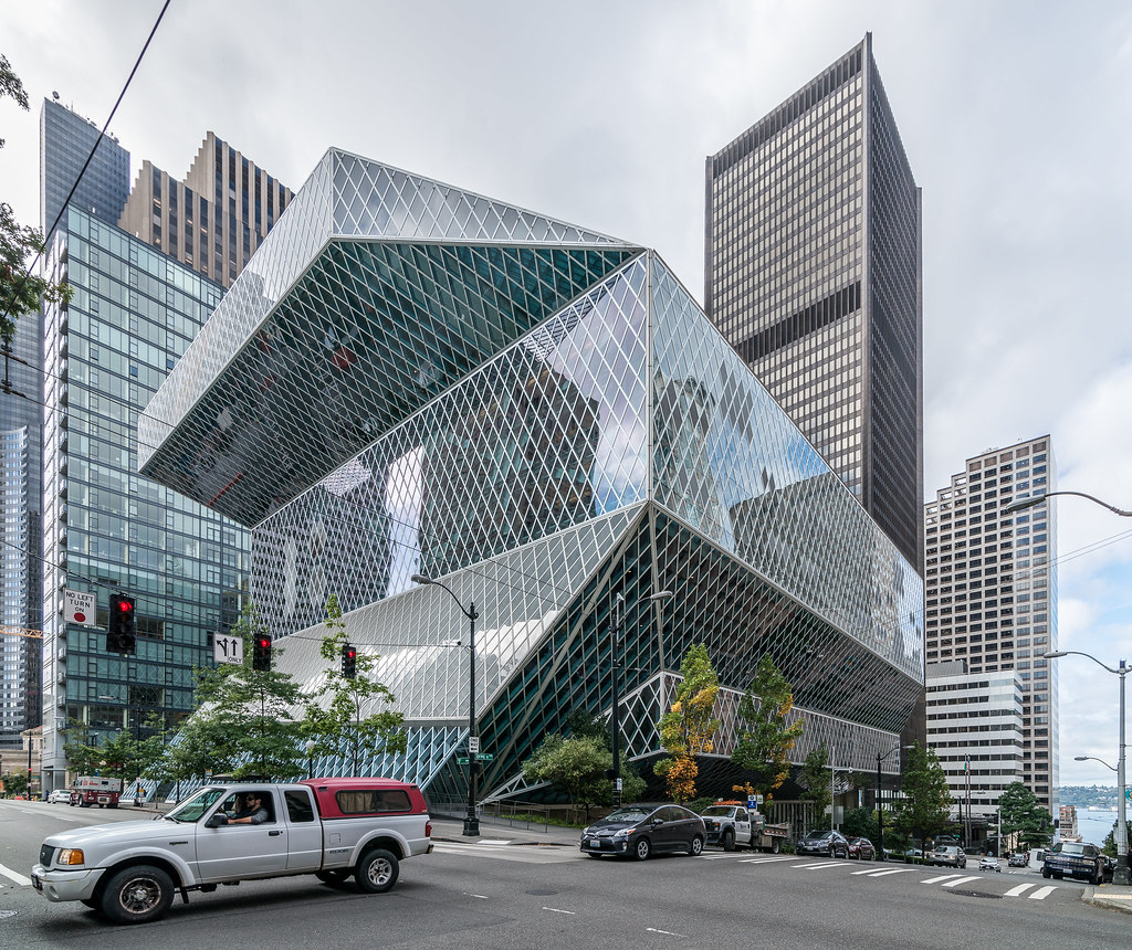 Architettura A Madrid seattle central library   seattle central library, seattle