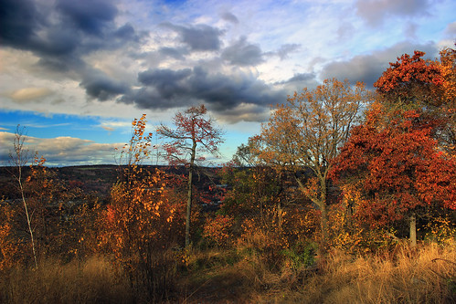 autumn trees sky mountains clouds landscape hiking pennsylvania hills foliage creativecommons bluemountain appalachianmountains stratocumulus kittatinnymountain carboncounty lehighgap lehighgapnaturecenter