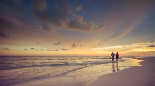 ocean longexposure sunset seascape beach clouds us unitedstates florida sarasota gulfcoast landscapephotography sonyalpha ledobeach