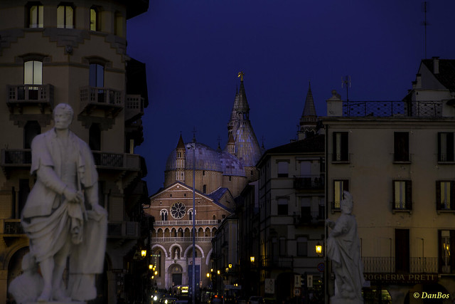 Padova - Saint Anthony Church after sunset