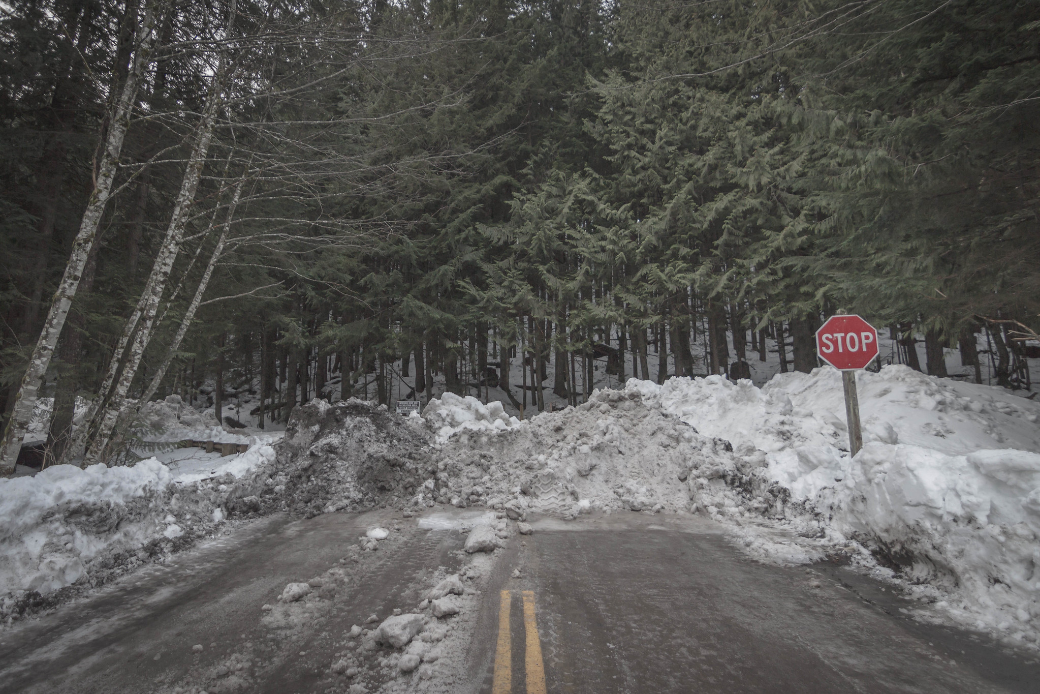 End of the drivable road