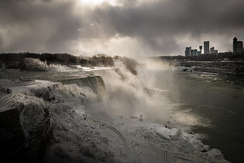 break in the clouds over niagara | by Christian Collins