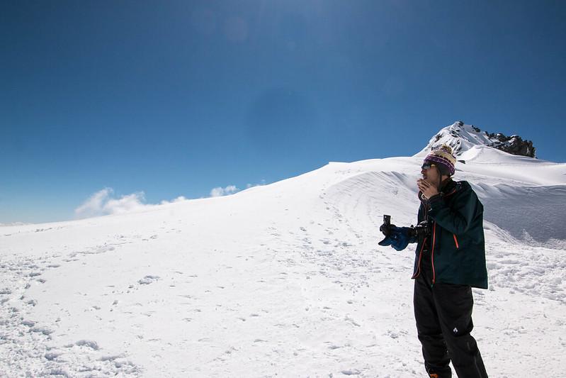 木曽駒ヶ岳で一服
