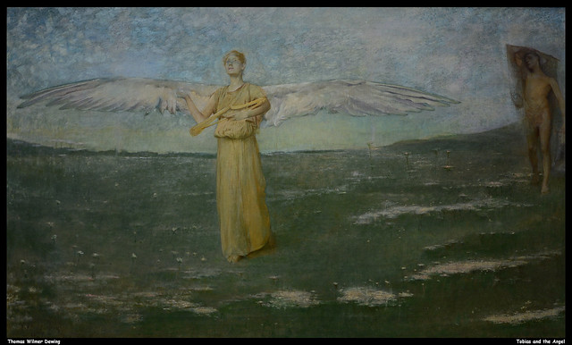 Thomas Wilmer Dewing - Tobias and the Angel  JPB